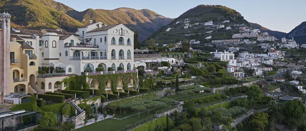Beach wedding Italy - Belmond Hotel Caruso view in Amalfi coast