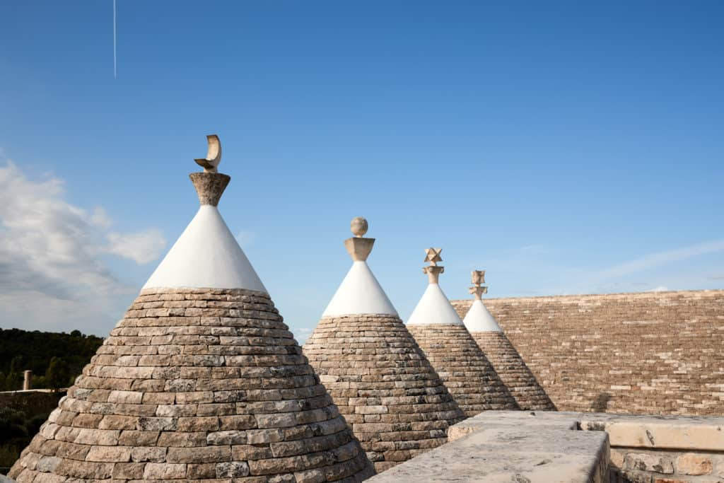 Detail of Trulli, the typical accommodation of Puglia