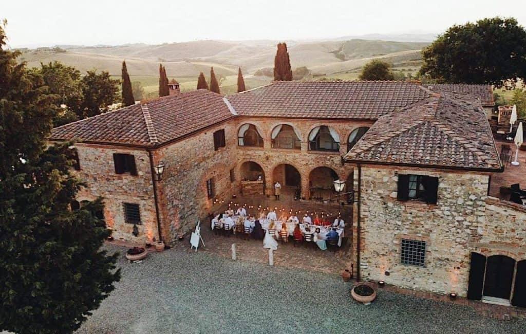 Italian Villa Boscarello view from above