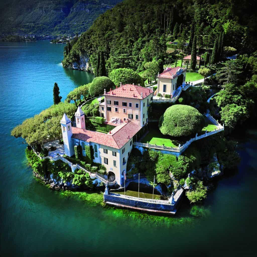 Villa del Balbianello view from above