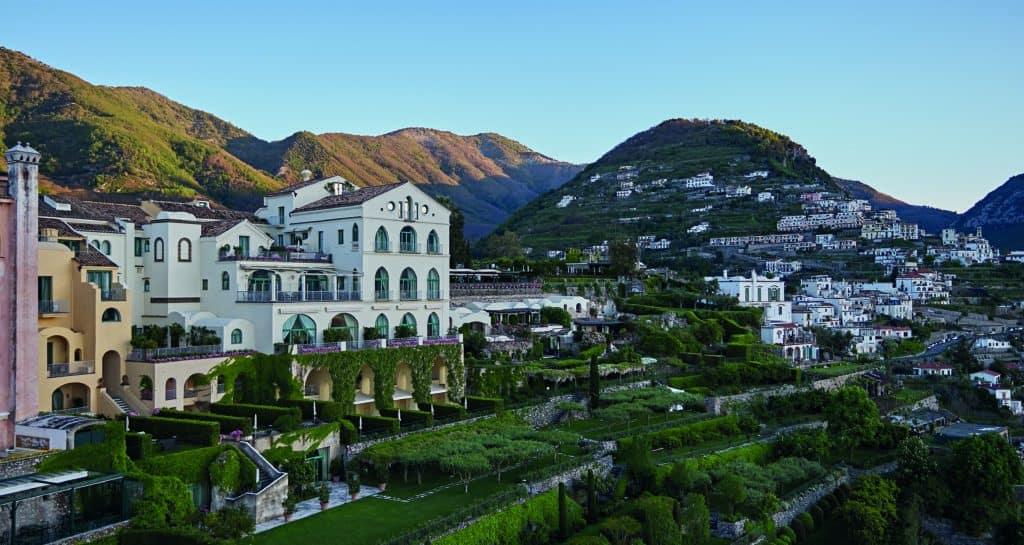 View of Belmond hotel Caruso in Amalfi