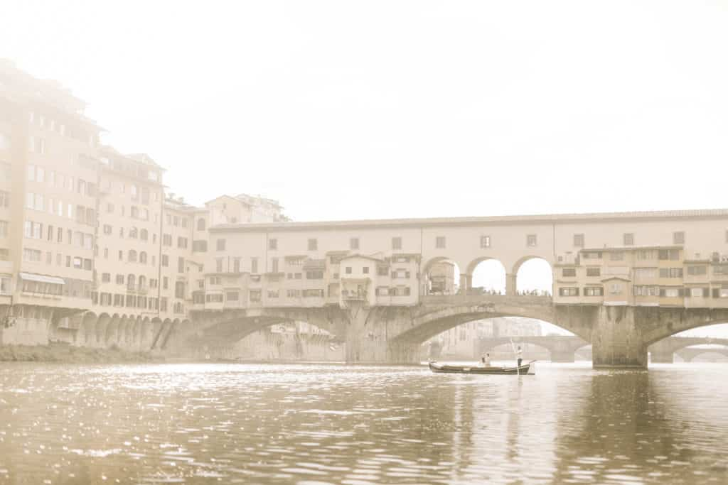 View on Ponte Vecchio in Florence