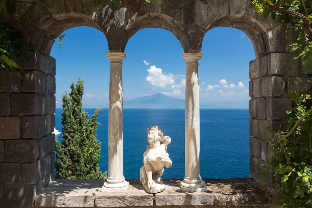 Villa Astor in Amalfi overlooking Mediterranean sea