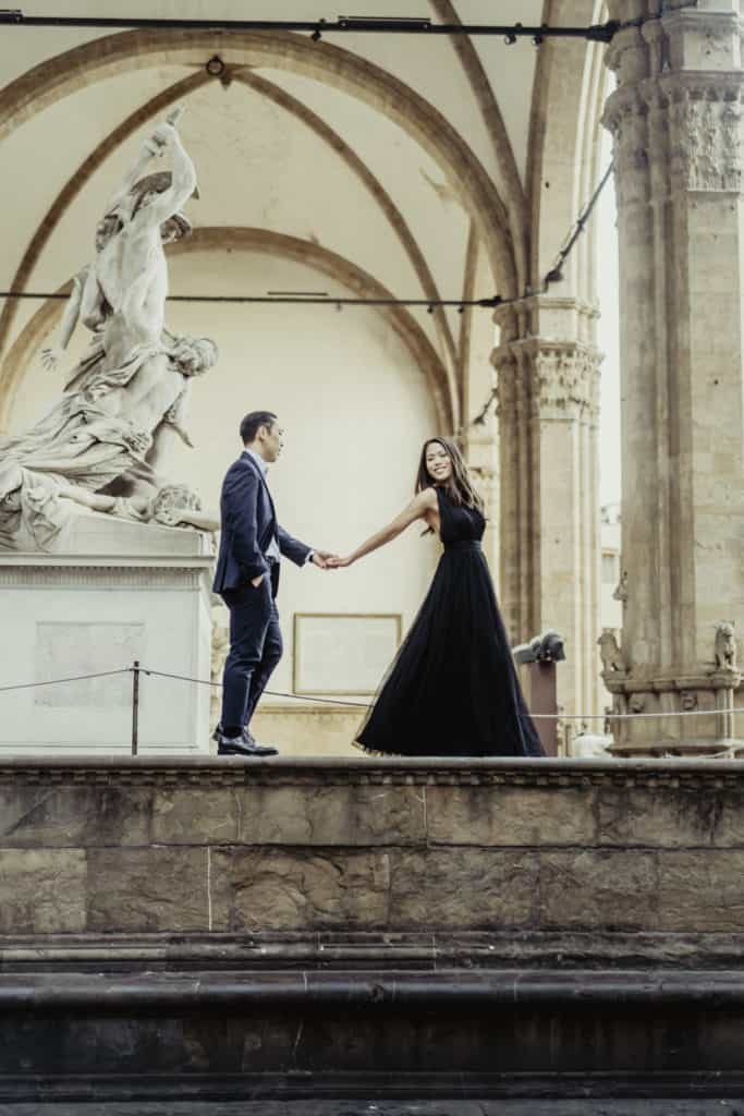 Bride and Groom during a destination wedding in Florence (Italy)
